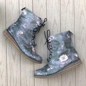 DV8 Floral Lace Up Combat Boots
